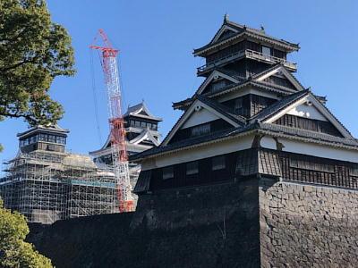 熊本城令和2年元旦