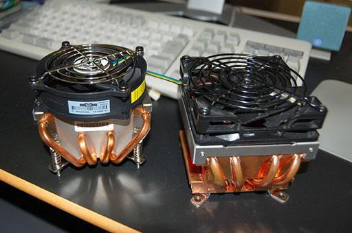 ML115 標準CPUクーラーとHyper48の比較