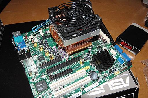 ML115 CPUクーラー&チップクーラー交換後