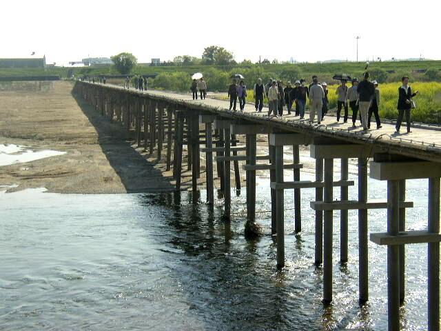 流れ橋復旧1