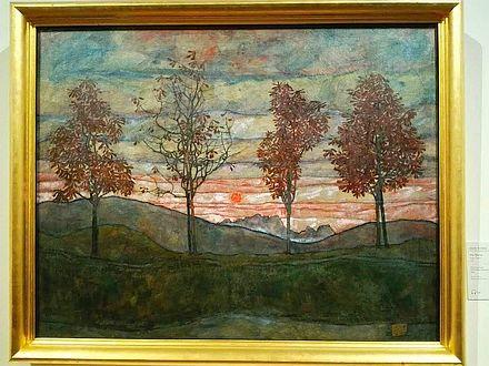 エゴン・シーレ「4本の木」