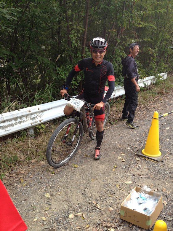 王滝100km参戦の竹谷選手