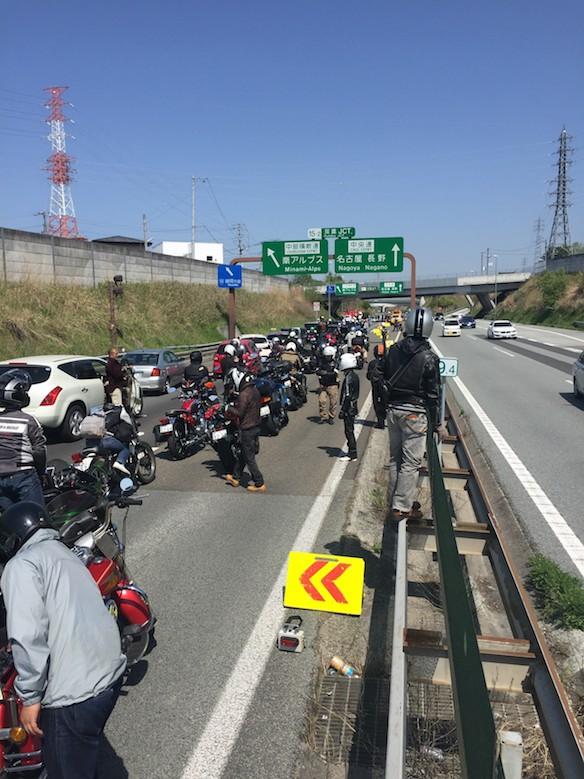高速道路事故先頭