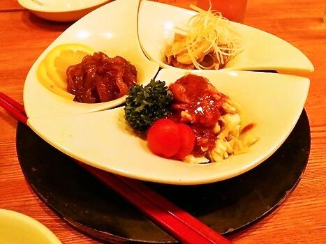 芝蘭 冷菜三種盛り
