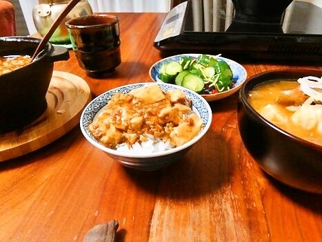 コロダッチで麻婆豆腐