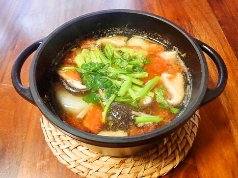 蕪とトマトの塩麹スープ