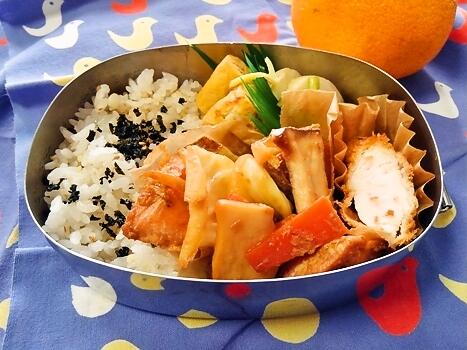 鮭のちゃんちゃん焼き風弁当
