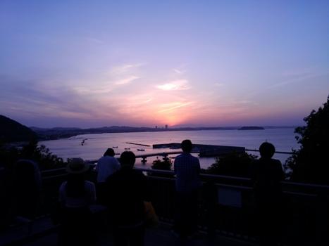 破崎緑地 夕日