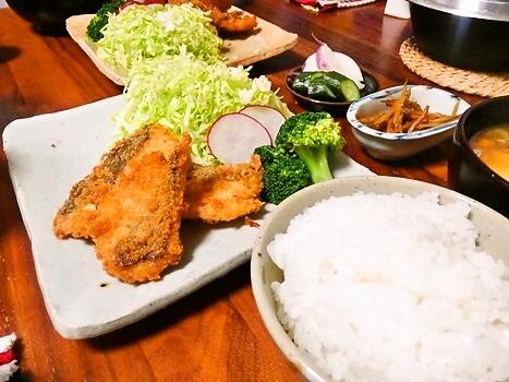 平目フライ 定食