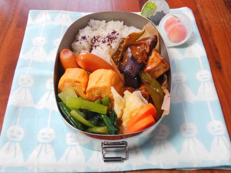 茄子と厚揚げの黒酢炒め弁当
