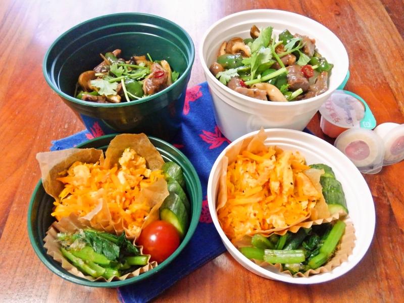 砂肝とピーマンのナンプラー炒め弁当