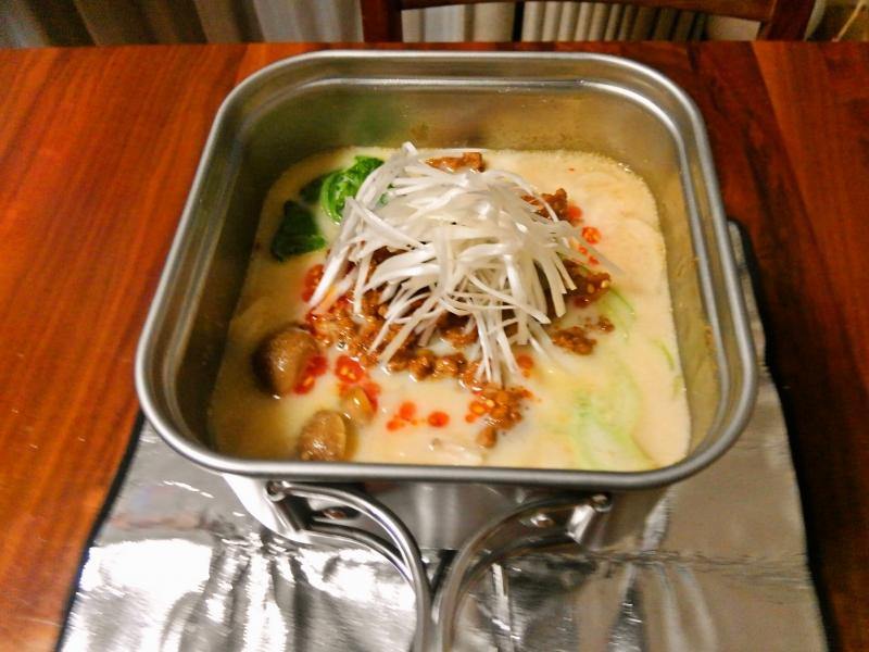 豆乳担々麺 練習レシピ その11