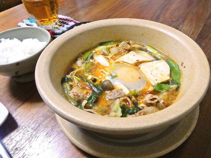 スタック鍋で豆腐チゲ