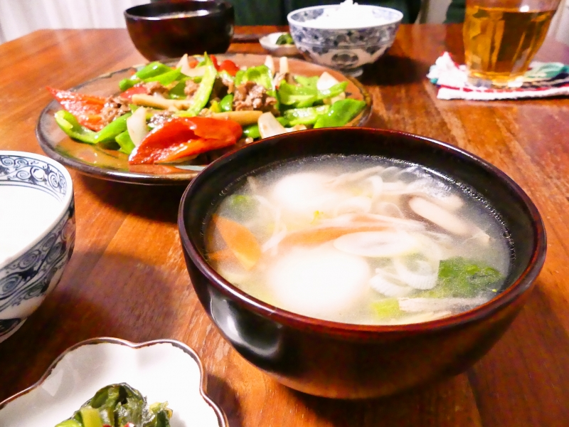 えびだんご入り生姜スープ