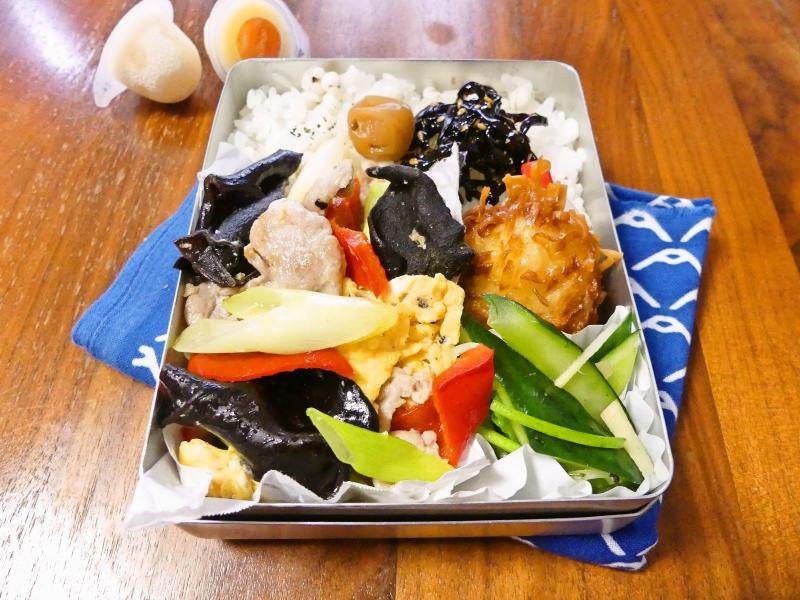 キクラゲと卵の炒め物 弁当