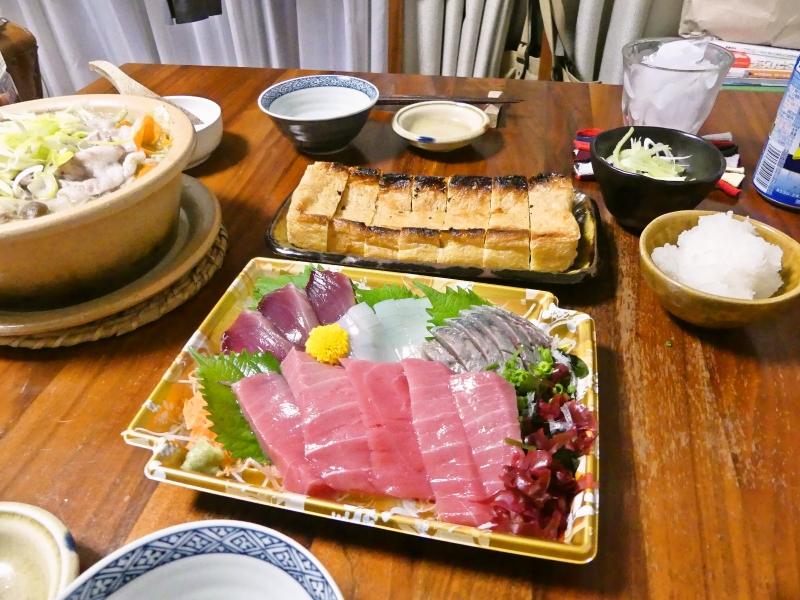 お刺身と小鍋