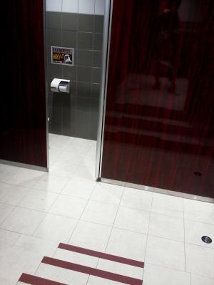 洗面所からトイレへ行くには階段があり・・・