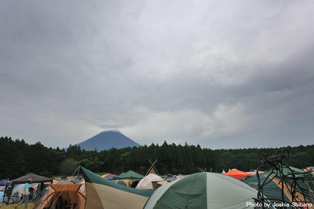 富士山とテントサイト