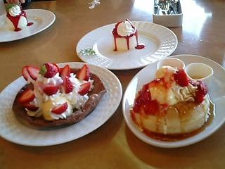 苺のチョコマッドパイ、苺のホワイトショコラケーキ、苺のココッシュ