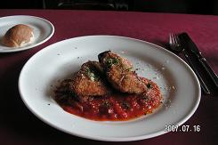 地鶏のカツレツトマトソース添