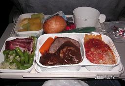 イタリア機内食1
