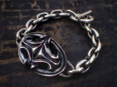 Sculpted Oval w/Small Oval Links Bracelet