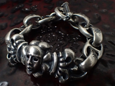 4Heart ID With H.W.O & Anchor Links All Smooth Bracelet
