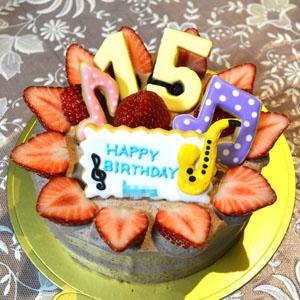 15さいのバースデーケーキ