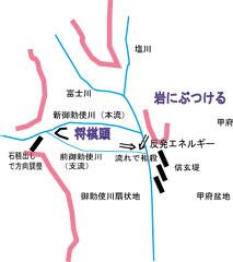 御勅使川の流れ方説明