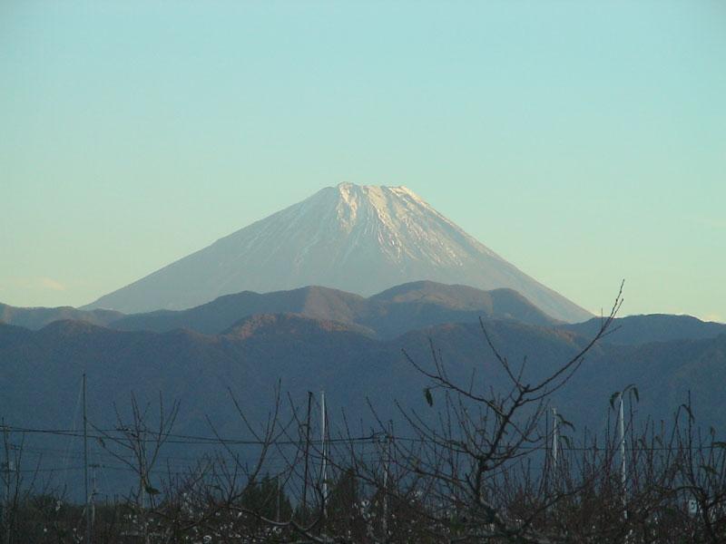 南アルプス今諏訪地区からの富士山
