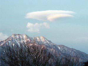 石鎚山の笠雲
