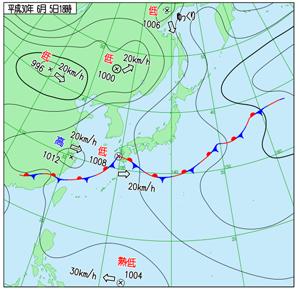 2018年6月5日の天気図