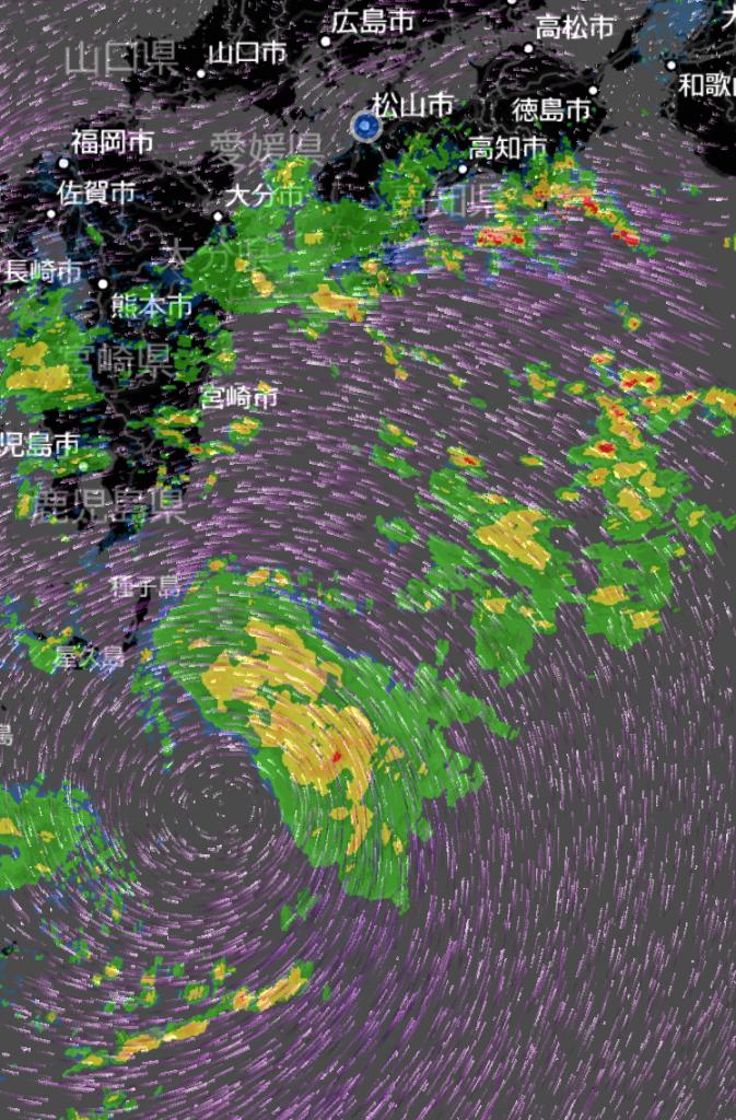 台風12号の気流