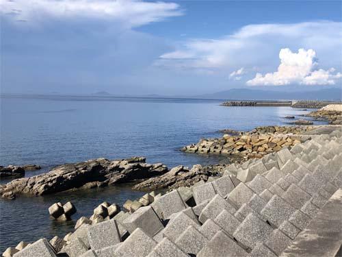 8月の海岸