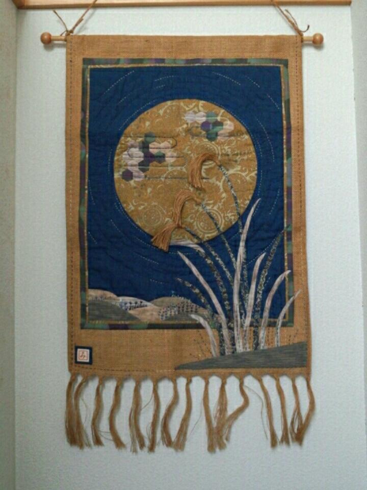 お月見のタペストリー