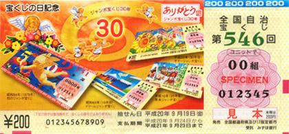 宝くじの日記念くじの日(9月2日)