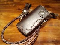 ロングウォレット(革財布)ブラウン
