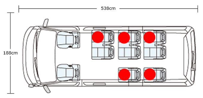 ハイエース座席表