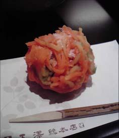 2009年秋の生菓子「晩秋」