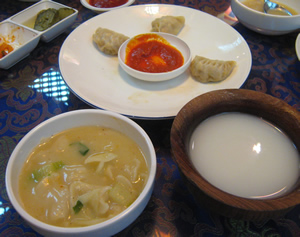 food in potala restaurant in seoul