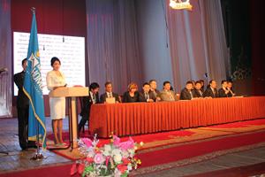 モンゴル国立図書館90周年式典