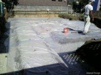 防湿シート施工