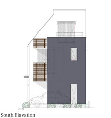 House in Libraryr立面図