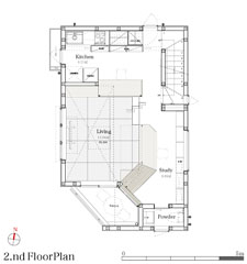 House in Library2F平面図
