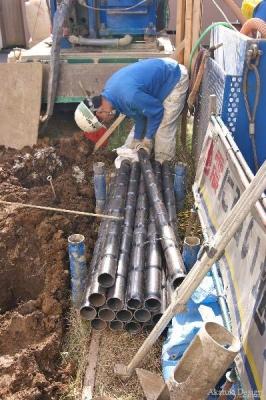地盤改良工事鋼管杭