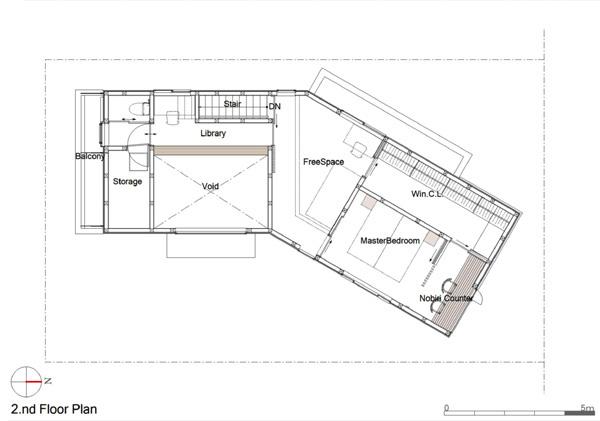北欧ハウス2階平面図