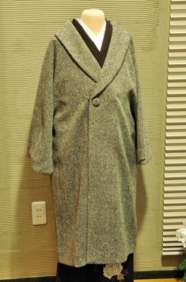 女性用へちま衿コート