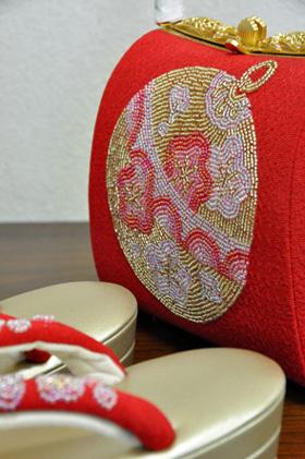 ビーズ刺繍バックセット001