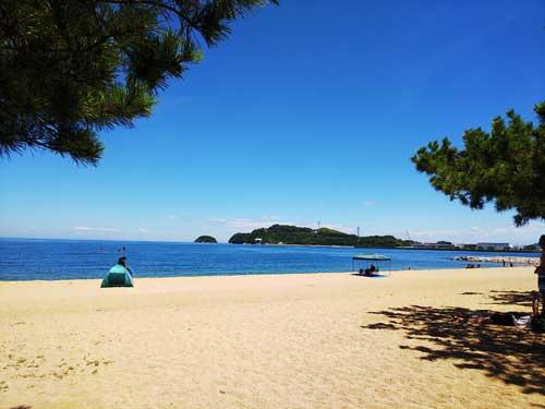 津田の松原の浜辺