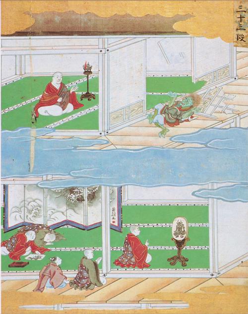 角大師…『元三大師繪伝記』第三十三段